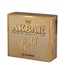 Чай черный AKBAR «GOLD», 100 пак.