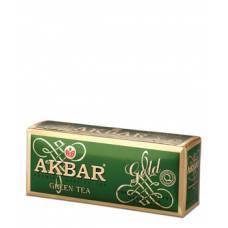 Чай зеленый AKBAR «GREEN GOLD», 25 пак.