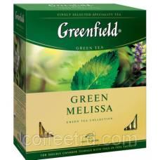 """Чай зеленый Greenfield  """"Green Melissa"""", 100 пак."""