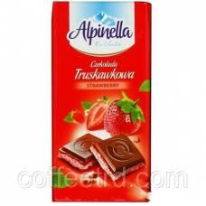 "Шоколад молочный Alpinella ""Truskawkowa"" (с клубникой), 90 г"