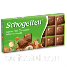 "Шоколад SCHOGETTEN ""Alpine milk chocolate with Hazelnuts"",100 Г"