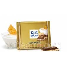 """Молочный шоколад Ritter Sport """"Olympia (Мед, йогурт и фундук)"""", 100г."""