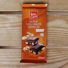 """Шоколад Fin Carre """"молочный с цельным арахисом"""" 0.1 кг"""